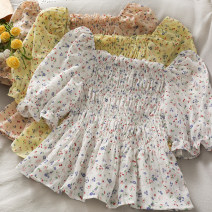 Lace / Chiffon Summer 2021 White, yellow, green, pink Average size commute have cash less than that is registered in the accounts One word collar 18-24 years old A280949 30% and below