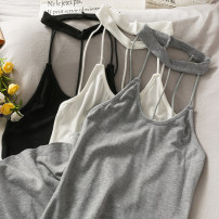Dress Summer 2021 Gray, white, black Average size Short skirt singleton  Sleeveless Solid color camisole 18-24 years old 30% and below other