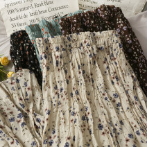 skirt Spring 2021 Average size Black, brown, green, apricot longuette commute High waist Pleated skirt Type A 18-24 years old A280272 30% and below other other Korean version