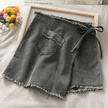 Casual pants black S,M,L Summer 2020 shorts High waist Thin money 18-24 years old 30% and below