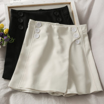 Casual pants White, black S,M,L,XL Summer 2021 shorts High waist 18-24 years old 30% and below A281142 other Asymmetry