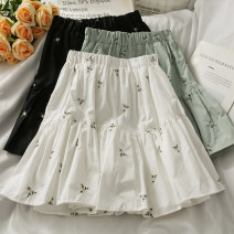 skirt Summer 2021 Average size Green, white, black Short skirt High waist A-line skirt 18-24 years old A281752 30% and below