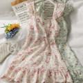 Dress Summer 2021 Green, pink M, L Short skirt singleton  Sleeveless High waist camisole 18-24 years old A281304 30% and below