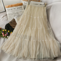 skirt Spring 2021 Average size Black, brown, apricot, white Mid length dress commute High waist A-line skirt Type A 18-24 years old A280329 30% and below other other Korean version