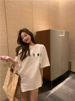 T-shirt White, black Average size Short sleeve Crew neck easy Regular routine commute other 51% (inclusive) - 70% (inclusive) 18-24 years old originality letter printing