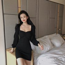 Dress Winter of 2019 black Average size