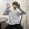 T-shirt Youth fashion Black, white routine M,L,XL Others Long sleeves Crew neck easy daily autumn Cotton 98% polyurethane elastic fiber (spandex) 2% youth tide 2020 other