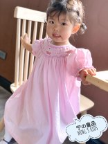 Dress Royal pink cake with cable skirt female Other / other Size 1 80, size 2 90, size 3 100, size 4 110, size 5 120 Cotton 100% 18 months, 2 years old, 3 years old, 4 years old, 5 years old, 6 years old