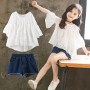 suit Other / other 110cm,120cm,130cm,140cm,150cm,160cm,170cm female summer Korean version Short sleeve + pants 2 pieces routine There are models in the real shooting Socket nothing other cotton children Giving presents at school Class B Cotton 95% other 5% Chinese Mainland Guangdong Province
