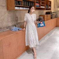 Women's large Summer 2020 white S M L XL 2XL 3XL Dress commute Korean version H-C4N2939 Little IDA's flower 18-24 years old Other 100% Pure e-commerce (online only)