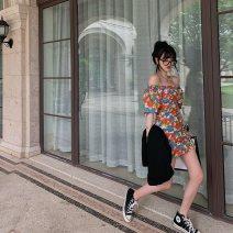 Women's large Summer 2020 Decor S M L XL 2XL 3XL Dress commute Korean version A02440 Little IDA's flower 18-24 years old Other 100% Pure e-commerce (online only)