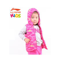 Cotton vest For children Ling / Li Ning Winter 2016 zipper Brand logo pattern Warm and windproof Hood yes other
