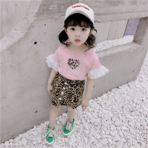 suit Other / other 80cm,90cm,100cm,110cm,120cm,130cm female summer Short sleeve + skirt 2 pieces Thin money There are models in the real shooting nothing cotton children 12 months, 18 months, 2 years old, 3 years old, 4 years old, 5 years old, 6 years old, 7 years old