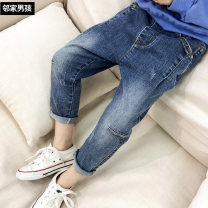 trousers male blue spring and autumn trousers Korean version There are models in the real shooting Jeans Leather belt middle-waisted cotton Don't open the crotch Cotton 95% polyurethane elastic fiber (spandex) 5% Class B Three, four, five, six, seven, eight, nine, ten, eleven, twelve, thirteen