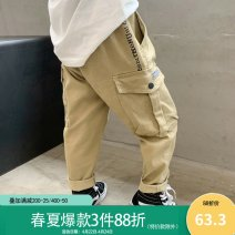 trousers Theok male Hang tag 7, height 110, hang tag 9, height 120, hang tag 11, height 130, hang tag 13, height 140, hang tag 15, height 150, hang tag 17, height 160 khaki spring and autumn trousers Korean version There are models in the real shooting Casual pants Leather belt middle-waisted cotton