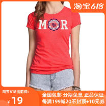 T-shirt S71T cotton 96% and above Short sleeve Summer of 2019 Regular payment Crew neck Self cultivation routine commute letter Minnerita Simplicity Printing, patching White, sky blue, green, red, black, red, black, white S. M, l, XL, minnerita brand 2 pieces 7.50% off