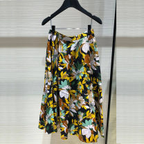 skirt Spring 2021 1 code = XS (support for return and exchange), 2 code = s (support for return and exchange), 3 code = m (support for return and exchange), 4 code = l (support for return and exchange), 5 code = XL (support for return and exchange) Decor longuette Versatile High waist Umbrella skirt