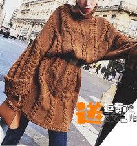 sweater Winter 2017 S, M Coffee color, rose purple, coffee color [with belt - the same model], rose purple [with belt - the same model] Long sleeves Socket singleton  other 31% (inclusive) - 50% (inclusive) High collar commute Bat sleeve Bat type 18-24 years old Other / other AM121333