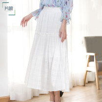 skirt Summer 2020 S M L XL Ivory white and yellow longuette Natural waist A-line skirt other 25-29 years old P0A122053Q01 More than 95% Dribs & drabs / clip cotton fungus Cotton 100% Same model in shopping mall (sold online and offline)