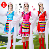 National costume / stage costume Fall 2017 Big red (for headdress belt and shoe cover) blue (for headdress belt and shoe cover) rose red (for headdress belt and shoe cover) XXXXL S M L XL XXL XXXL MOJI-019 Inktrace / ink Other 100% Pure e-commerce (online only)