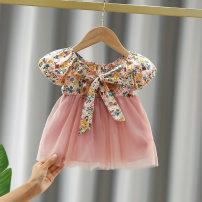Dress female Other / other Other 100% summer Korean version Short sleeve Broken flowers other Cake skirt other 12 months, 9 months, 18 months, 2 years old, 3 years old, 4 years old, 5 years old Chinese Mainland