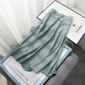 skirt Spring 2021 S,M,L Lake green ad476 longuette commute High waist A-line skirt Solid color Type A 18-24 years old More than 95% Ocnltiy Korean version