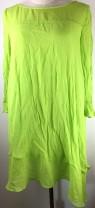 Dress Spring 2021 Vanilla green S Middle-skirt singleton  three quarter sleeve Sweet Crew neck Loose waist Socket Irregular skirt routine More than 95% other