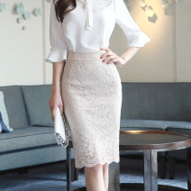 skirt Summer of 2019 S,M,L,XL Middle-skirt Versatile High waist other 25-29 years old 51% (inclusive) - 70% (inclusive) Lace Other / other