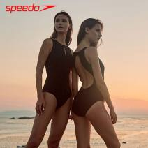 one piece  SPEEDO / speedo Size 32 (height 155, weight 45-50), Size 34 (height 160, weight 50-57), size 36 (height 165, weight 55-62), size 38 (height 170, weight 60-67), size 40 (height 175, weight 65-72) black Triangle one piece swimsuit With chest pad without steel support nylon 811831-0001 female