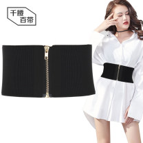 Belt / belt / chain cloth Black, apricot, camel female Waistband Simplicity Single loop Youth, youth, middle age Automatic buckle Glossy surface Glossy surface 12cm alloy alone A thousand waist and a hundred belts WDF0095