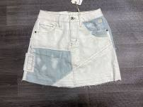 skirt Summer 2020 XS,S,M,L,XL White cattle Mid length dress gorgeous High waist A-line skirt 91% (inclusive) - 95% (inclusive) cotton