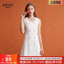 Dress Winter 2017 Beige S spot, m spot, l spot Middle-skirt 25-29 years old OLrain H06XL50011 31% (inclusive) - 50% (inclusive) nylon
