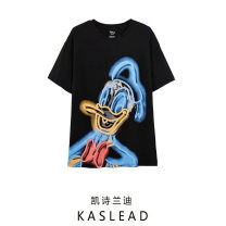 T-shirt black S,M,L Spring 2021 Short sleeve Crew neck Regular routine street cotton 86% (inclusive) -95% (inclusive) Cartoon animation Europe and America