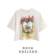 T-shirt white S,M,L Summer 2020 Short sleeve Crew neck easy street cotton 96% and above Europe and America