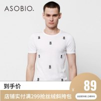 T-shirt / sweater Asobio / pride Youth fashion Bleached white / 100 170/88A/S 175/92A/M 180/96A/L 185/100A/XL Socket Crew neck Short sleeve Polyacrylonitrile fiber (acrylic fiber) 75.5% polyamide fiber (nylon fiber) 24.5% Summer 2017 Same model in shopping mall (sold online and offline)