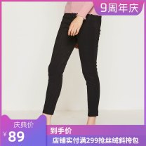 Casual pants Winter 2017 trousers Straight pants Natural waist commute routine Asobio / pride Simplicity Polyester 100% Same model in shopping mall (sold online and offline)