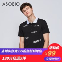 Polo shirt Asobio / pride Youth fashion routine Black / 999 170/88A/S 175/92A/M 180/96A/L 185/100A/XL 190/104A/XXL Extra wide Other leisure summer Short sleeve Business Casual routine youth Cotton 96.6% polyurethane elastic fiber (spandex) 3.4% other Summer of 2018