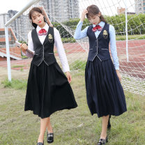 student uniforms Summer 2021, spring 2021, autumn 2021 S,M,L,XL,XXL,XXXL Long sleeves Korean version skirt Under 17 Lehno / Laino pure cotton 31% (inclusive) - 50% (inclusive)