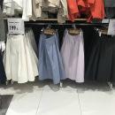 skirt Spring 2021 S,M,L Black, white, lavender, pink blue commute High waist 18-24 years old cotton pocket