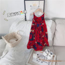 Dress gules female Other / other 90cm, 100cm, 110cm, 120cm, 130cm, 140cm, collect and purchase first Other 100% summer leisure time Skirt / vest Plants and flowers other Skirt / vest other 2 years old, 3 years old, 4 years old, 5 years old, 6 years old, 7 years old Chinese Mainland Zhejiang Province