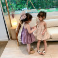 Dress Apricot, purple female Other / other 80cm,90cm,100cm,110cm,120cm,130cm Other 100% summer Korean version Skirt / vest Solid color other A-line skirt Class B 18 months, 2 years old, 3 years old, 4 years old, 5 years old, 6 years old Chinese Mainland
