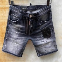 Jeans Youth fashion Tagkita / she and others 44 for 28.29, 46 for 30, 48 for 31.32, 50 for 33.34, 52 for 35.36, 54 for 37.38 As shown in the figure routine Micro bomb Regular denim Pant Other leisure summer youth Medium low back Slim feet tide 2021 Little straight foot Button Five bags washing cotton