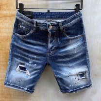 Jeans Youth fashion Tagkita / she and others 44 for 28.29, 46 for 30, 48 for 31.32, 50 for 33.34, 52 for 35.36, 54 for 37.38 As shown in the figure routine Micro bomb Regular denim Shorts (up to knee) Other leisure summer youth Medium low back Slim feet tide 2021 Little straight foot Button Five bags