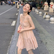 Dress Summer 2021 Dress S, M Short skirt singleton  Short sleeve commute High waist Solid color Socket A-line skirt camisole 18-24 years old Type A Korean version 30% and below other other