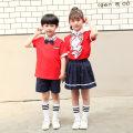 School uniform / school uniform customization neutral summer motion Class A Socket Pure cotton (100% cotton content) Short sleeve + skirt Cotton 95% polyurethane elastic fiber (spandex) 5%