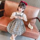 Dress Pink, black female Other / other Size 90 (height 78-87cm, age 1-2), size 100 (height 88-97cm, age 2-3), Size 110 (height 98-107cm, age 3-4), Size 120 (height 108-117cm, age 4-5), Size 130 (height 118-130cm, age 5-6) Other 100% summer princess Short sleeve Solid color cotton Lotus leaf edge