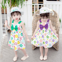 Dress Purple, cyan female Other / other Size 80 (height 70-78cm, age 1), Size 90 (height 78-87cm, age 1-2), size 100 (height 88-97cm, age 2-3), Size 110 (height 98-107cm, age 3-4), Size 120 (height 108-117cm, age 4-5) Other 100% summer princess Short sleeve Solid color cotton Lotus leaf edge Class B
