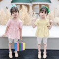 Dress Pink grid, yellow grid female Other / other Size 80 (height 70-78cm, age 1), Size 90 (height 78-87cm, age 1-2), size 100 (height 88-97cm, age 2-3), Size 110 (height 98-107cm, age 3-4), Size 120 (height 108-117cm, age 4-5), Size 130 (height 118-130cm, age 5-6) Other 100% summer princess cotton