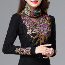 Lace / Chiffon Autumn 2020 XL,2XL,3XL,4XL,5XL,6XL,7XL Long sleeves commute Socket singleton  Self cultivation Regular Pile collar 40-49 years old ethnic style 91% (inclusive) - 95% (inclusive) nylon