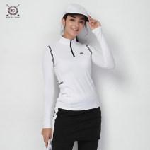 Golf apparel Black and white S M L XL XXL female Callaway / Callaway Long sleeve T-shirt Autumn of 2018 yes